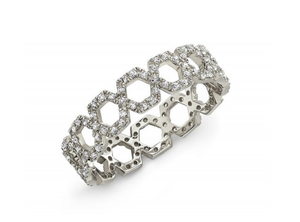14KT LATTICE ETERNITY BAND - Cabochon Fine Jewelry