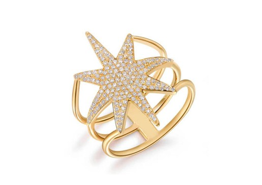 ROSE NORTH STAR RING - Cabochon Fine Jewelry