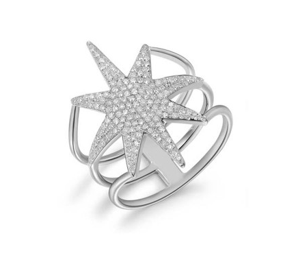 14KT NORTH STAR RING - Cabochon Fine Jewelry