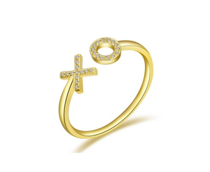 GOLD XO RING - Cabochon Fine Jewelry