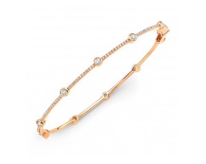 14K ROSE GOLD BEZEL AND BARS BRACELET