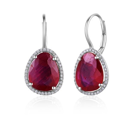 14KT RUBY EARRINGS - Cabochon Fine Jewelry