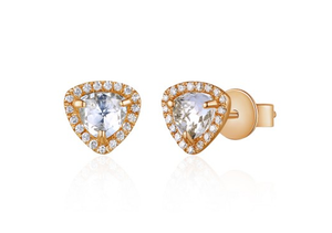 ROSE TOPAZ EARRING STUDS