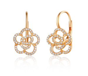 ROSE ROSETTA EUROWIRE EARRINGS