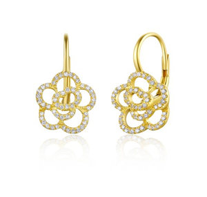 GOLD ROSETTA EUROWIRE EARRINGS
