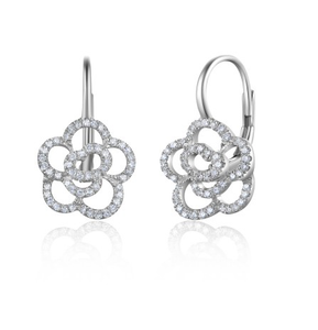 14KT ROSETTA EUROWIRE EARRINGS