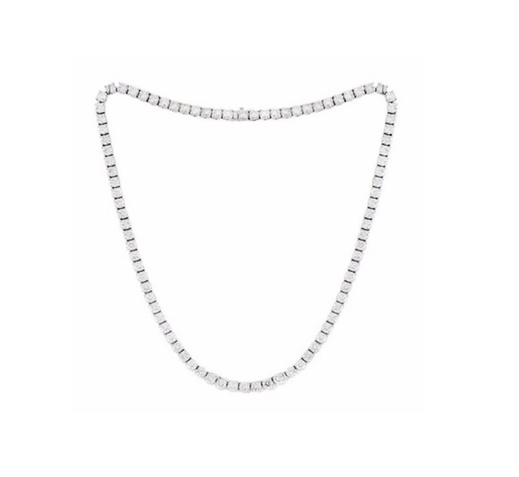 ASHER CUT DIAMOND TENNIS NECKLACE - Cabochon Fine Jewelry