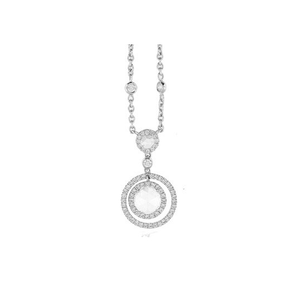 DIAMOND CIRCLE NECKLACE - Cabochon Fine Jewelry