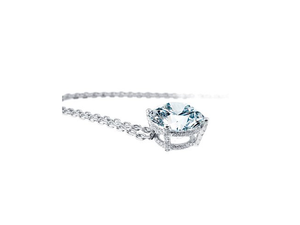 SOLITARY DIAMOND NECKLACE - Cabochon Fine Jewelry