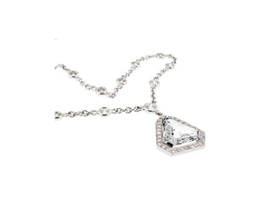 HALO SOLITAIRE DIAMOND NECKLACE - Cabochon Fine Jewelry