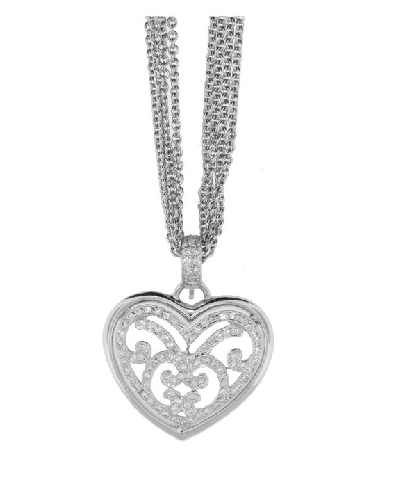 HEART CHAIN DIAMOND NECKLACE - Cabochon Fine Jewelry