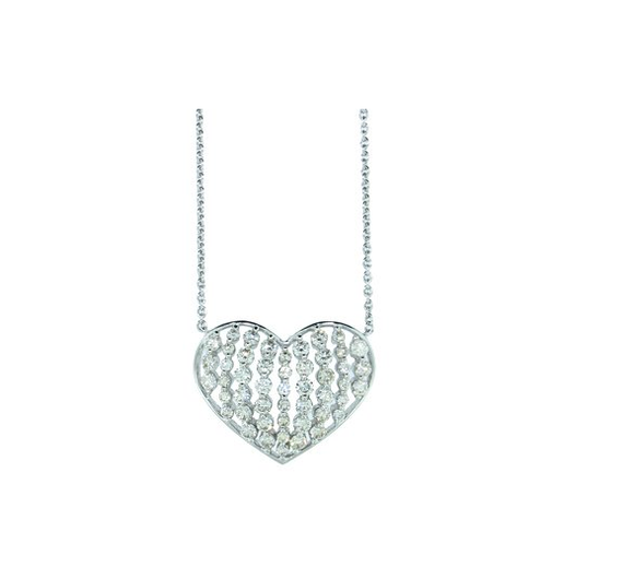HEART DIAMOND NECKLACE - Cabochon Fine Jewelry