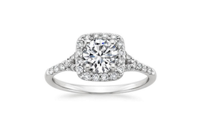 DIAMOND PRONG SET ENGAGEMENT RING - Cabochon Fine Jewelry