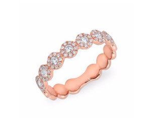 14KR ROSE GOLD LAUREN HALF DIAMOND RING