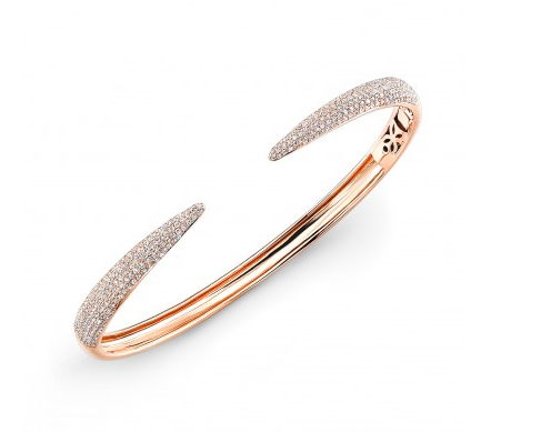 ROSE DIAMOND CLAW BANGLE - Cabochon Fine Jewelry