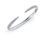 14KT DIAMOND CLAW BANGLE - Cabochon Fine Jewelry