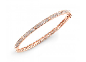 ROSE PAVE CONE STATION BANGLE