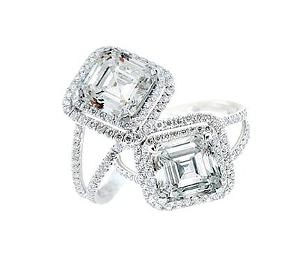 Double Tiered Micro Pave Engagement Ring