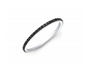 Micro Black Diamond Eternity Band - Cabochon Fine Jewelry