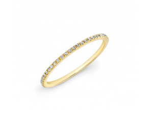 Yellow Gold Micro Band - Cabochon Fine Jewelry