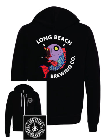 Long Beach Brewing Co. Unisex Full-Zip Hoodie
