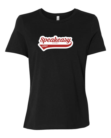 Speakeasy Womens Relaxed Fit Baseball Tail T-Shirt