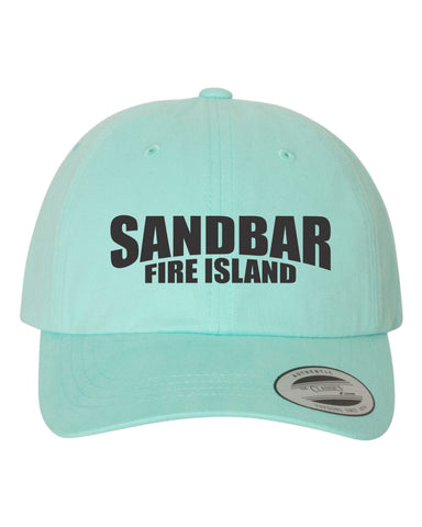The Sandbar Embroidered Beach Washed Dad Hat