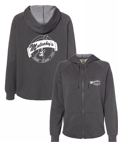 Mulcahy's Retro Guitar Womens Full-Zip Hooded Sweatshirt