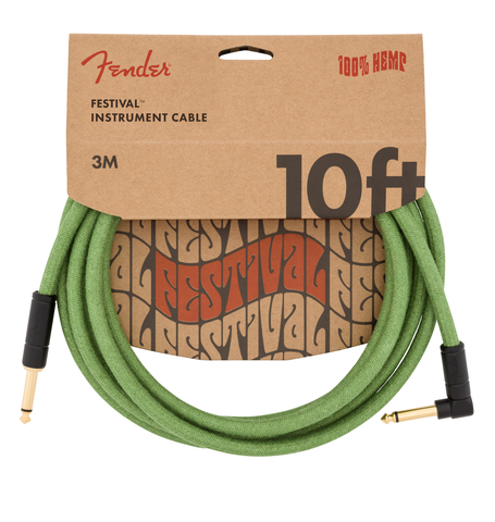 Fender Festival Hemp Instrument Cable 10
