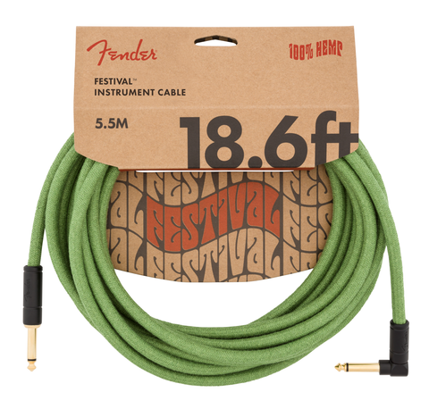 Fender Festival Hemp Instrument Cable 18.6