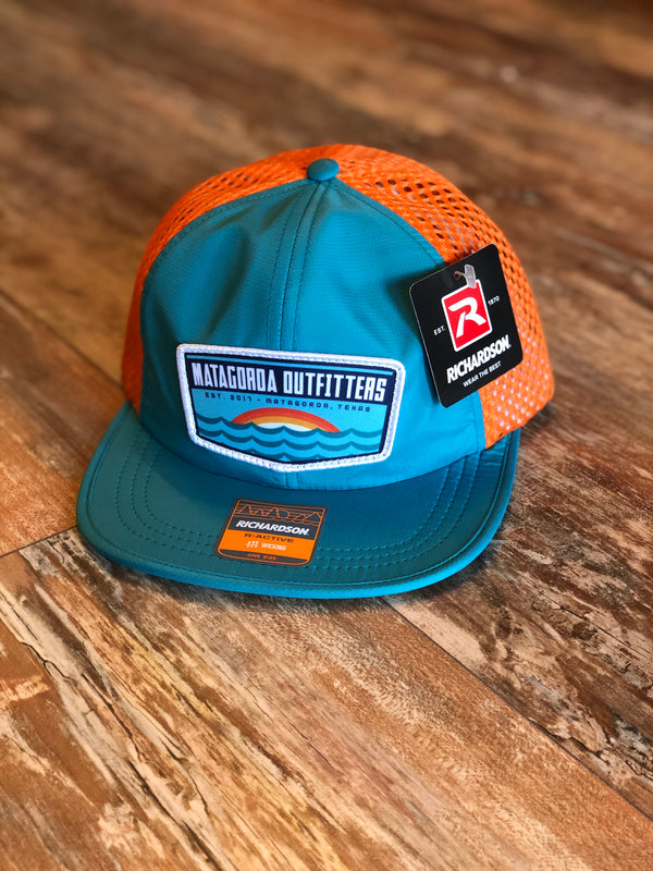 Sunrise Outdoorsman Patch Hat - Blue/Orange Sportsman Performance