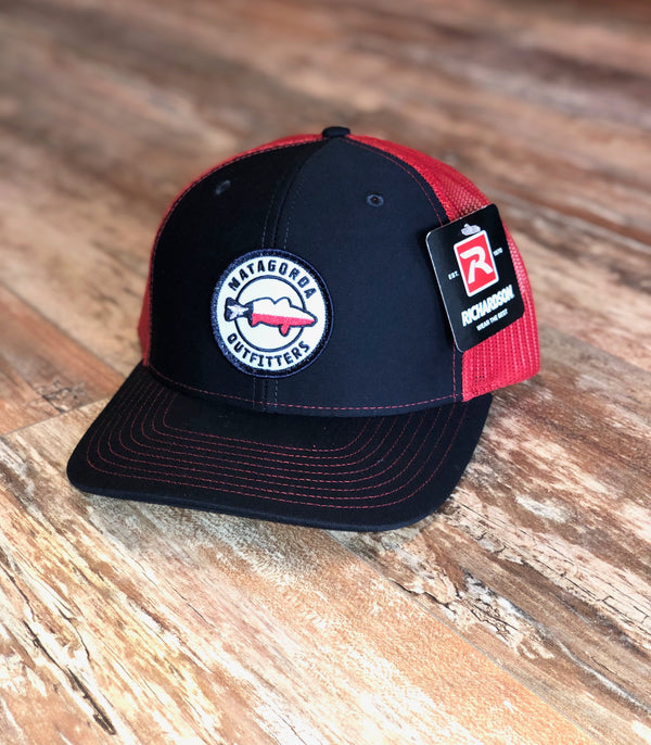 Texas Redfish Patch Hat-Navy/Red