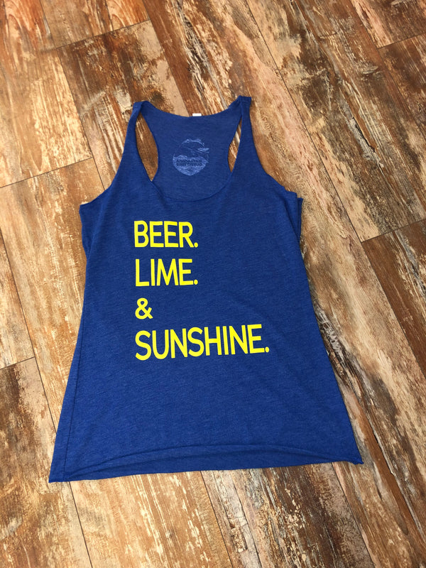 Beer Lime and Sunshine - Blue