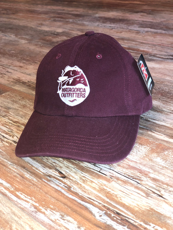 Classic Logo Dad Hat - Maroon/White