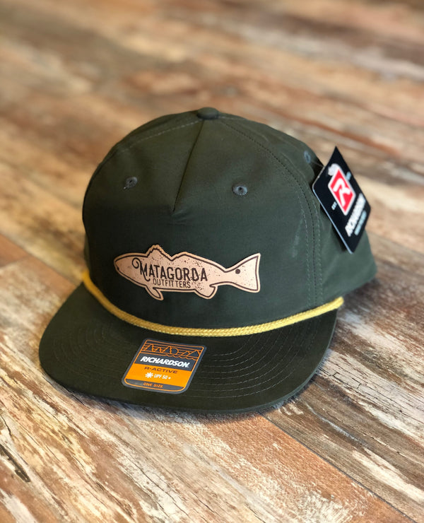 Redfish Leather Patch - Olive Roper