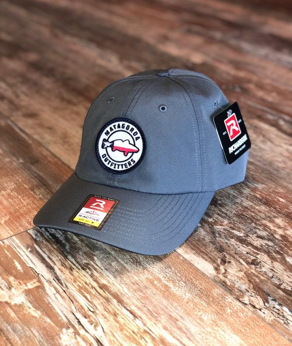 Texas Redfish Patch Hat-Grey Performance