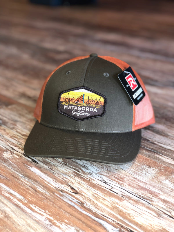 Tailing Red Patch - Brown/Orange Trucker