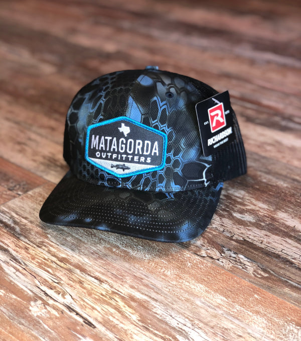 Blue Hexagon Patch Hat - Blue Kryptek/Black