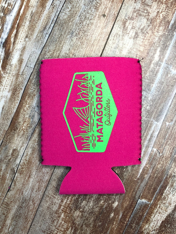 Tailing Red Koozie - Neon Pink/Green
