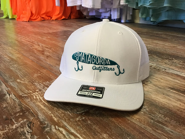 MO Embroidered Lure Hat - white/teal