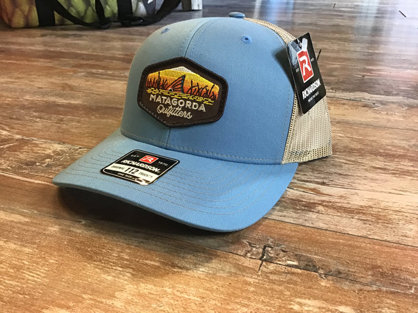 Tailing red patch - Columbia blue/ khaki