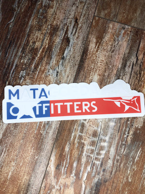 Red White and Blue Matagorda Outfitters Sticker