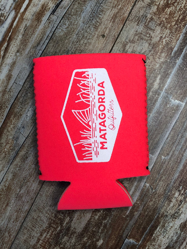 Tailing Red Koozie - Hot Pink/White