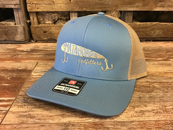 Mo embroidered lure hat - Columbia blue/ gold