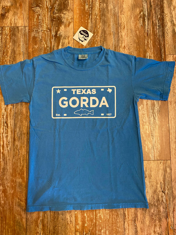 GORDA Plate Logo T-Shirt - Blue