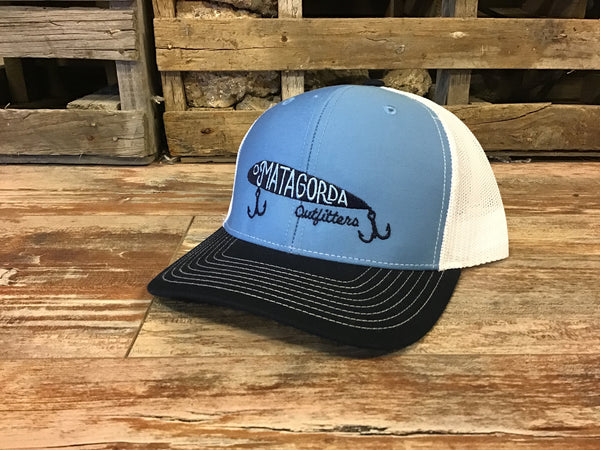 MO embroidered Lure Hat-navy & blue/white