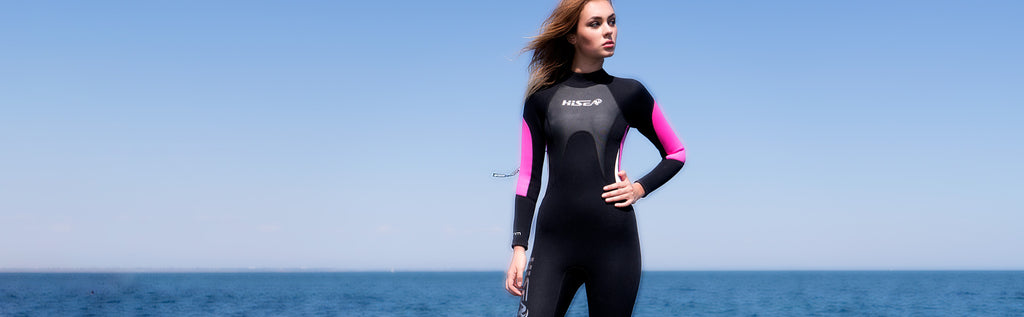 Scubadonkey women wetsuit surfing scuba diving kayaking snorkeling