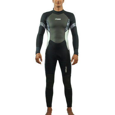 Scubadonkey 3 mm Neoprene Surfing Wetsuit for Men  (Black/Gery)