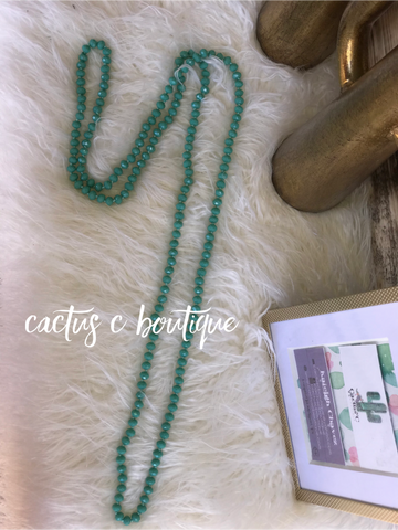 Layered Jade Necklace- 60inches