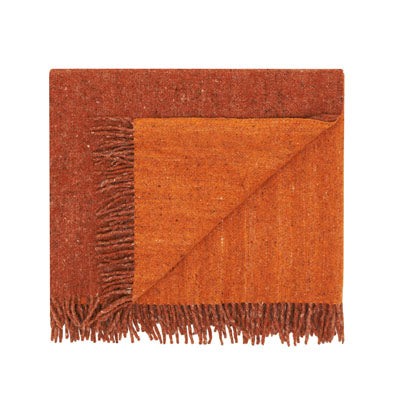 Recycled Wool Throw Tonal Salmon